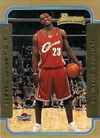 Bowman 2003-04 LeBron James Gold Rookie card
