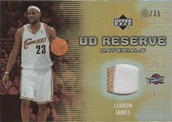 2006-07 UD Reserve Patch LeBron James