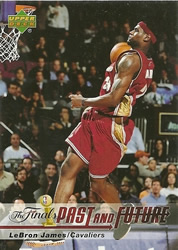 2006 Upper Deck LeBron James The Finals Then And Now