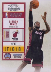 2010-11 Playoff Contenders Patches LeBron James