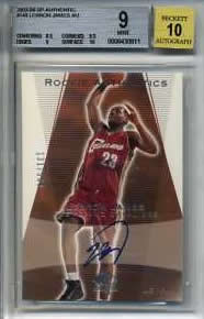 Graded LeBron James cards
